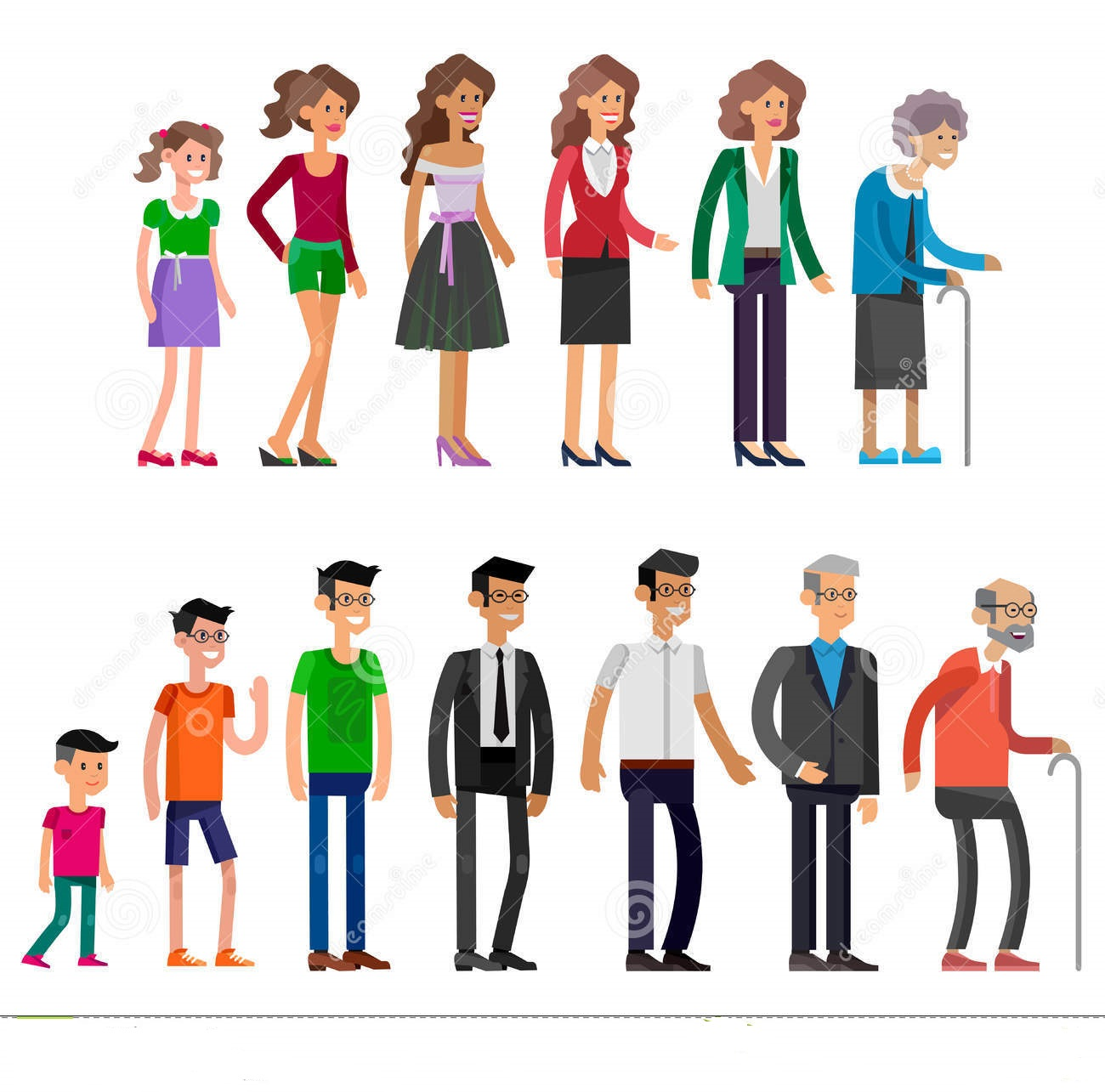 generations-woman-all-age-categories-detailed-characters-people-isolated-white-background-men-infancy-childhood-adolescence-72902808